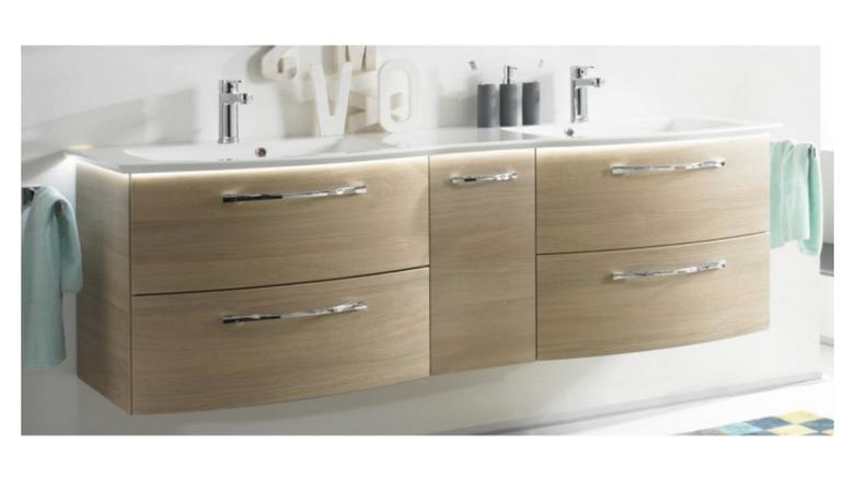 doppelwaschbecken mit unterschrank 140 cm der badm bel blog. Black Bedroom Furniture Sets. Home Design Ideas