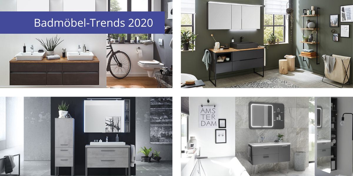 badmoebel-trends 2020 - badmoebel dunkel, minimalistisch, industrial