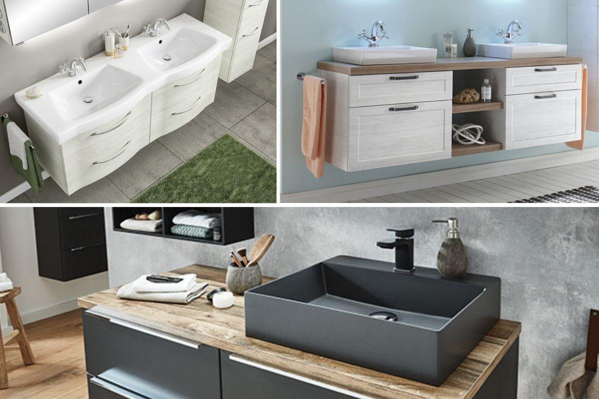 Keramik-Waschbecken mit Unterschrank 15cm  Badmöbel-Markenshop