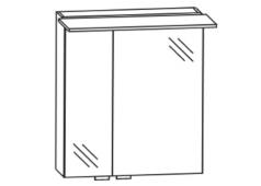 Puris Slim line Spiegelschrank, breite Tür rechts, 60 cm