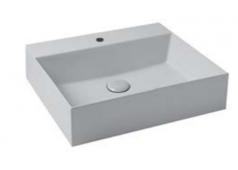 Pelipal 9030 Keramik-Aufsatzwaschbecken, 50 cm, mit Zwangsablauf
