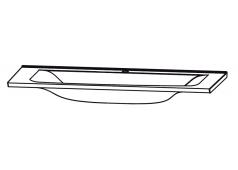 Puris Brillant Glaswaschtisch, Optiwhite, 120 cm