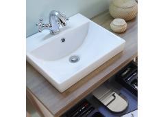 Pelipal 9030 Keramik-Aufsatzwaschbecken, 41 cm, mit integr. Überlauf