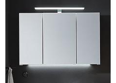 Puris Speed Spiegelschrank mit LED-Aufbauleuchte, 100 cm