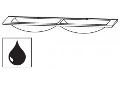 Puris Cool line Doppel-Glaswaschtisch Quarzitgrau, 120 cm
