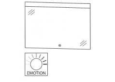 Puris Xpression Flächenspiegel, LED-Beleuchtung oben, 120 cm