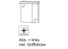 Puris Slim line Spiegelschrank, doppelt verspiegelt, br. Tür links, 60 cm