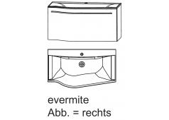 Puris for guests Badmöbel-Set mit Evermite Mineralguss-Waschtisch, 60,6 cm