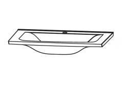 Puris Brillant Mineralguss Waschtisch, LED, Weiß, evermite, 60 cm