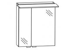 Puris Slim line Spiegelschrank, doppelt verspiegelt, br. Tür rechts, 60 cm