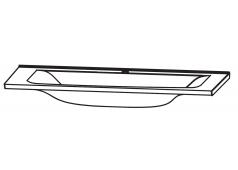Puris Brillant Glaswaschtisch Quarzitgrau, 90 cm
