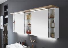 Puris Unique Spiegelschrank mit LED-Streifen im Kranz, 170 cm