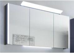Pelipal Neutrale Spiegelschränke Spiegelschrank mit Farbtemperaturwechsel, breite Aufsatzleuchte, 167 cm