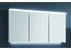 Puris Fine line Spiegelschrank , 3 Türen, einfach verspiegelt, 120 cm