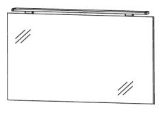 Puris D.Light Flächenspiegel mit Aufbauleuchte, 100cm