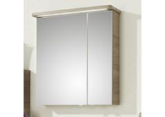 Pelipal Balto Spiegelschrank mit LED-Streifen im Kranz, 70 cm, Steckdose innen