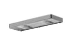 Pelipal Zubehör Aufsatzleuchte für Flächenspiegel, 230V, 2x40W, 30 cm