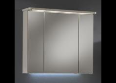 Pelipal Balto Spiegelschrank mit LED-Streifen im Kranz, 85 cm, Steckdose außen