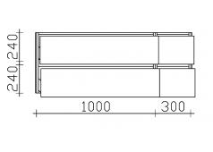 Pelipal 6010 Waschtischunterschrank, 4 Auszüge, 132 cm