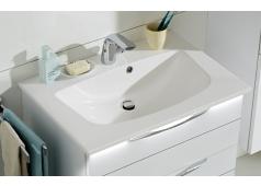 Pelipal SOLITAIRE 6025 Mineralmarmor-Waschtisch, Weiß, 67 cm