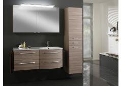Marlin Marlin Bad 3090 Badmöbel-Set, Ablage links, Spiegelschrank mit Aufsatzleuchte, 120 cm