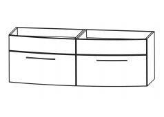 Puris Classic line Waschtischunterschrank mit 2 Frontblenden, 140 cm