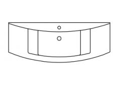 Marlin Marlin Bad 3040 Minrealmarmor-Waschtisch, 122 cm