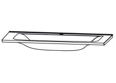Puris Brillant Glaswaschtisch, Quarzitgrau, 120 cm