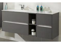 Pelipal 6010 Waschtischunterschrank mit LED-Profil für Grifffugen, 132 cm