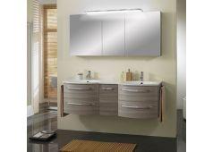 Marlin Marlin Bad 3090 Badmöbel-Set Doppelwaschplatz mit Spiegelschrank inkl. LED-Aufsatzleuchte, 150 cm