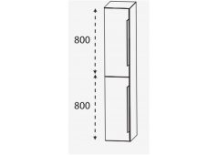 Puris 4landa Hochschrank, 2 Türen, 30 cm, mit Griff