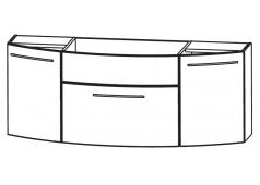 Puris Classic line Waschtischunterschrank mit Frontblende, 120 cm