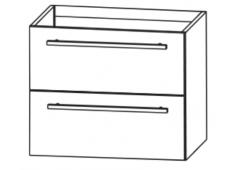 Puris Fine line Waschtischunterschrank für STONEPLUS-Waschtisch, 60 cm