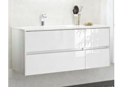 Pelipal 6010 Waschtischunterschrank, 4 Auszüge mit LED-Profil für Grifffugen, 112 cm