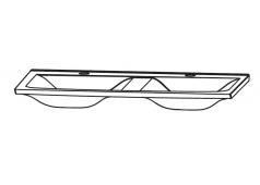 Puris Brillant Glas Doppelwaschtisch, Optiwhite, 120 cm