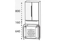 Puris 4landa Hochschrank mit Wäscheauszug, 4 Türen, mit Griff, 60 cm