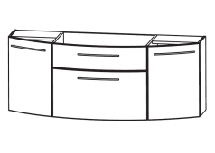 Puris Classic line Waschtischunterschrank mit Metallschubkasten für Glaswaschtische, 120 cm