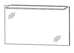 Puris D.Light Flächenspiegel, 100cm