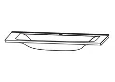 Puris Brillant Glaswaschtisch Optiwhite, 90 cm