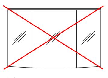 ohne Spiegel/Spiegelschrank