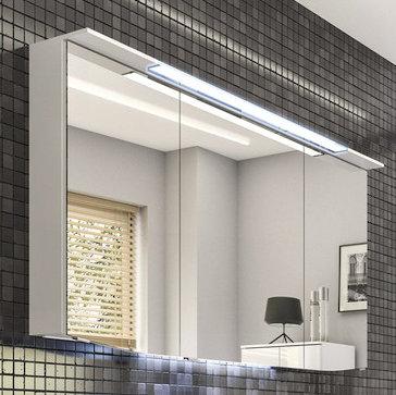 Spiegelschrank inkl. Beleuchtung im Kranz, 120 cm, 9 Watt