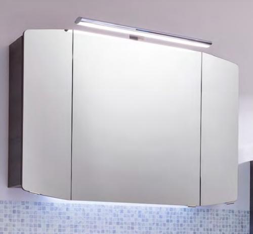 Spiegelschrank inkl. LED-Aufsatzleuchte, 100 cm, Steckdose INNEN