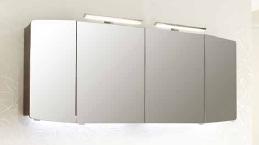 Spiegelschrank  inkl. 2 LED-Aufsatzleuchten, Steckdose AUßEN, 160cm