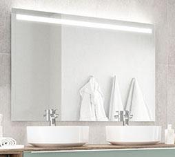 Nobilia Spiegel mit LED-Streifen oben, 120 cm