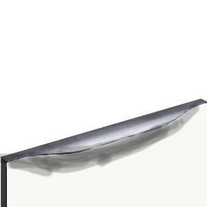 Nr. 1454 Weiß Hochglanz Select, Kante und Griff Anthrazit gebürstet