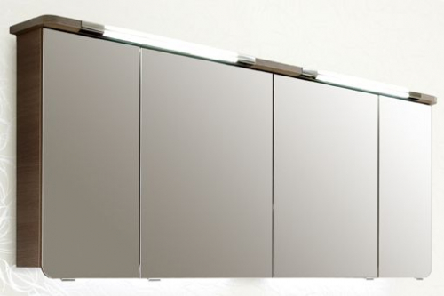 Spiegelschrank inkl. Beleuchtung im Kranz, 160 cm, 2 x 6,7 Watt