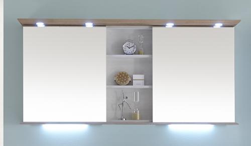 Spiegelschrank mit Regal, 120 cm