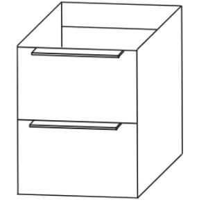 Plattenunterschrank mit 2 Auszügen, 60 cm