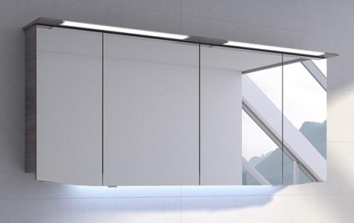 Spiegelschrank mit LED im Kranz, 160 cm, 2 x 12 Watt