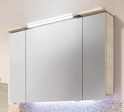 Spiegelschrank inkl. Beleuchtung im Kranz, 100, 6,7 Watt